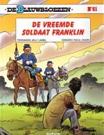 Cover: De vreemde soldaat Franklin - De blauwbloezen